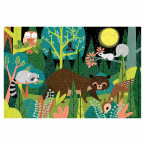 Mudpuppy glow in the dark in the forest puzzel overzicht
