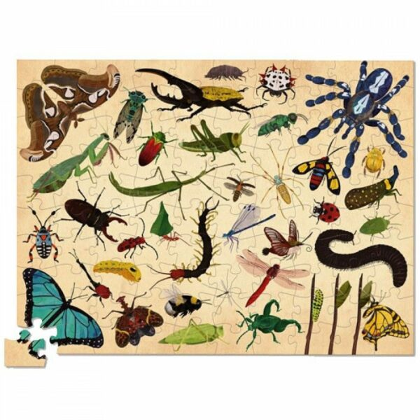 Crocodile creek 100 stuks insects puzzel voorkant