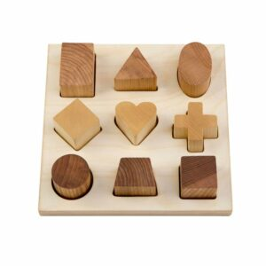 Wooden Story Vormenpuzzel naturel